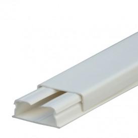 Кабель-канал 40x20мм, без перегородки, с крышкой, цвет белый - 030027