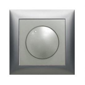 Накладка светорегулятора  с красной световой индикацией (серебристый металлик) LK60
