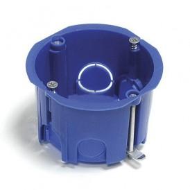Коробка установочная 68x45 для твердых стен синия