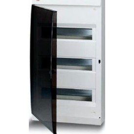 UNIBOX бокс настенный 54М прозр.дверь белый (без клемм)
