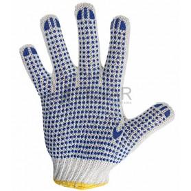 Перчатки х/б с нанесением ПВХ («Точка»),  4 нити,  63-65 г,  7, 5 класс вязки