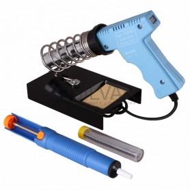 Набор для пайки REXANT (паяльник импульсный 30/70 Вт,  оловоотсос,  подставка,  припой)