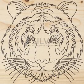 Доска для выжигания 1 шт.  «Тигр»