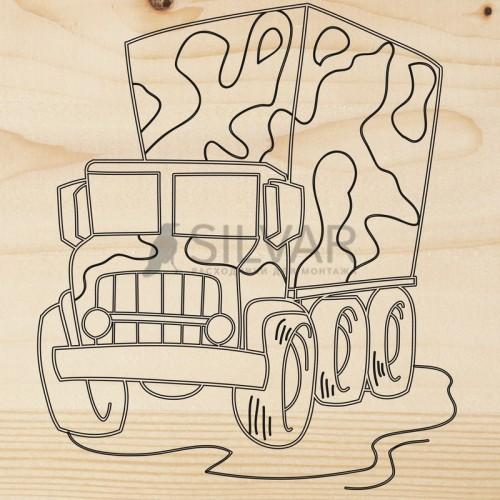 Доска для выжигания 1 шт.  «Машина Грузовик»