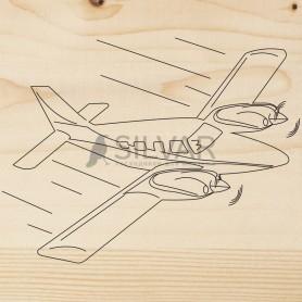 Доска для выжигания 1 шт.  «Самолет»