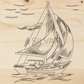 Доска для выжигания 1 шт.  «Корабль Парусник»