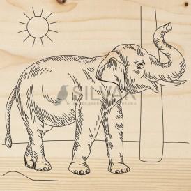 Доска для выжигания 1 шт.  «Слон»