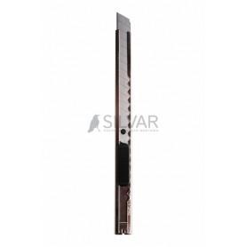 Нож с сегментированным лезвием 9 мм,  корпус металлический,  c клипсой REXANT