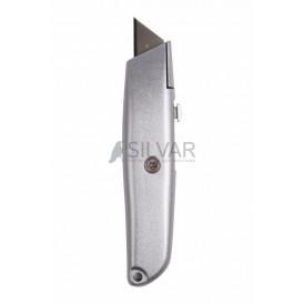 Нож с трапециевидным выдвижным лезвием REXANT