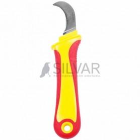 Нож монтажника,  нержавеющая сталь,  изогнутое лезвие REXANT