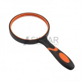 Лупа ручная круглая «Soft Touch»,  3X,  диаметр 100 мм