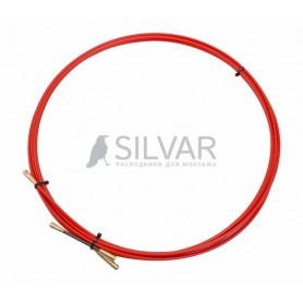 Протяжка кабельная REXANT (мини УЗК в бухте),  стеклопруток,  d=3, 5 мм 5 м,  красная