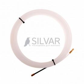 Протяжка кабельная REXANT (мини УЗК в бухте),  10 м нейлон,  d=3 мм,  латунный наконечник,  заглушка