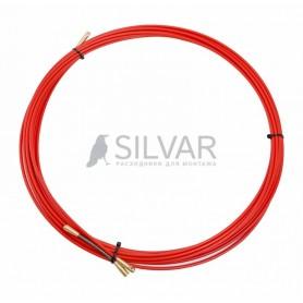 Протяжка кабельная REXANT (мини УЗК в бухте),  стеклопруток,  d=3, 5 мм 10 м,  красная