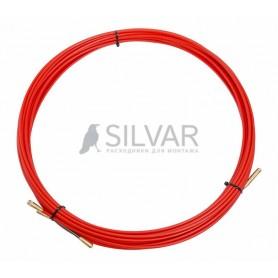 Протяжка кабельная REXANT (мини УЗК в бухте),  стеклопруток,  d=3, 5 мм 15 м,  красная