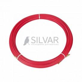 Протяжка кабельная REXANT (мини УЗК в бухте),  стеклопруток,  d=3, 5 мм 70 м,  красная