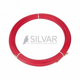 Протяжка кабельная REXANT (мини УЗК в бухте),  стеклопруток,  d=3, 5 мм 100 м,  красная