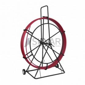 Протяжка кабельная (УЗК в тележке),  стеклопруток d=11, 0 мм,  150 м красная