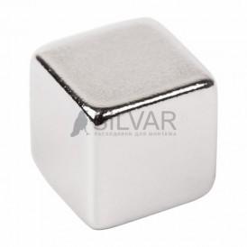 Неодимовый магнит куб 10*10*10мм сцепление 4, 5 кг (Упаковка 2 шт) Rexant