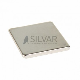 Неодимовый магнит прямоугольник 10х10х1 мм сцепление 0, 6 кг (Упаковка 10 шт) Rexant