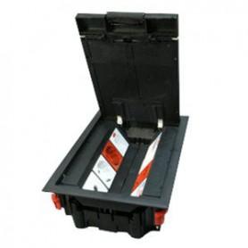 LUK/8P Люк в пол на 8 модулей с суппортом и коробкой (45х45мм) 70081+70160, пластик | 70082 | Ecoplast