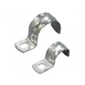 Скоба оцинкованная с одним отверстием, для трубы D25 мм, 1уп=10шт
