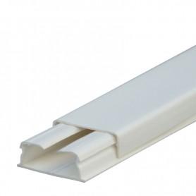 Кабель-канал 32х20мм, без перегородки, с крышкой, цвет белый - 030017