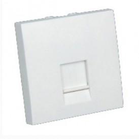 Накладка для розетки телефонной, компьютерной RJ,  45х45 мм (белый) LK45 |853204| Экопласт