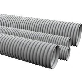 Труба HFFRLS гофрир. тяжелая, с зондом, без галогена, низкое дымовыделение, трудногорючая, цвет серый, диам 25 мм
