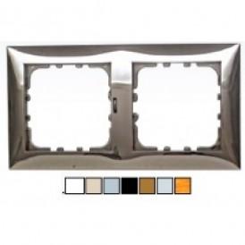 Рамка 2-постовая (серебристый металлик) LK60