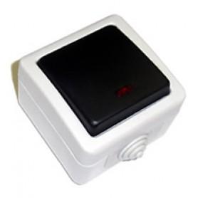 EF600SW Выключатель 2-полюсный одноклавишный,10A (сер.) схема 2