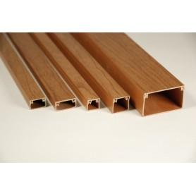 MEX 12Х12N Миниканал 12х12 мм  с текстурой дерева (орех) | 77021N-2 | Ecoplast