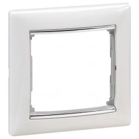 770491 Рамка Legrand Valena 1 пост, белый/серебряный штрих