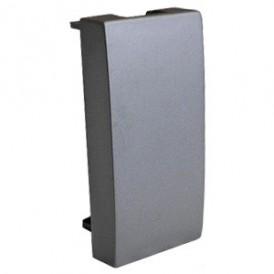 Заглушка 45х22,5 мм (серебристый металлик) LK45 | 855103| Экопласт