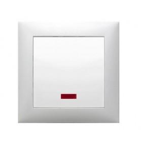 Выключатель 1-кл., c индикатором (схема 1L) 16 A, 250 B (белый) LK60 | 860204| Экопласт