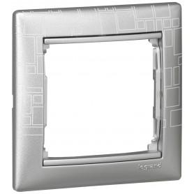 770341 Рамка 1 пост, алюминий модерн, Valena
