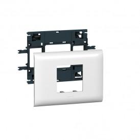 Legrand 010992 Рамка с суппортом  Mosaic на 2 модуля для крышки 85мм